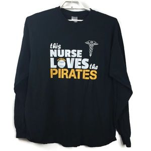 This Nurse Loves the Pirates Long Sleeve Tee XL